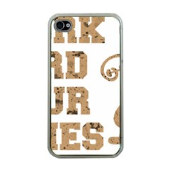 Work Hard Your Bones Apple Iphone 4 Case (clear) by Melcu