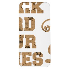Work Hard Your Bones Apple Iphone 5 Hardshell Case by Melcu