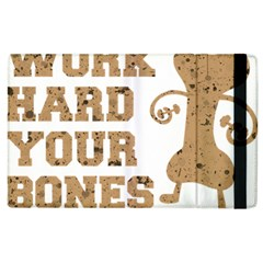 Work Hard Your Bones Apple Ipad 2 Flip Case by Melcu