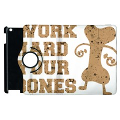 Work Hard Your Bones Apple Ipad 3/4 Flip 360 Case by Melcu