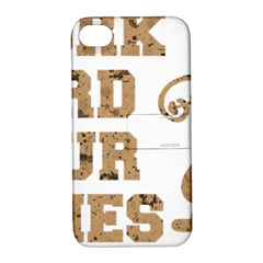 Work Hard Your Bones Apple Iphone 4/4s Hardshell Case With Stand by Melcu