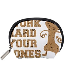 Work Hard Your Bones Accessory Pouches (small)  by Melcu