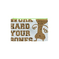 Work Hard Your Bones Cosmetic Bag (xs) by Melcu