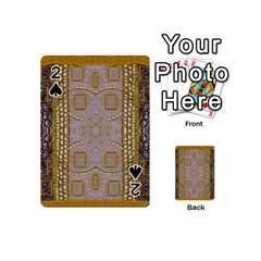 Gothic In Modern Stars And Pearls Playing Cards 54 (mini)  by pepitasart