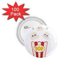 Cute Kawaii Popcorn 1 75  Buttons (100 Pack)
