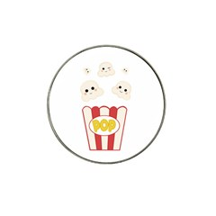 Cute Kawaii Popcorn Hat Clip Ball Marker by Valentinaart