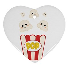 Cute Kawaii Popcorn Heart Ornament (two Sides) by Valentinaart