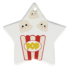 Cute Kawaii Popcorn Star Ornament (two Sides) by Valentinaart