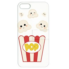 Cute Kawaii Popcorn Apple Iphone 5 Hardshell Case With Stand by Valentinaart
