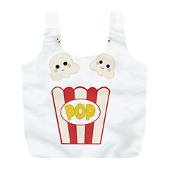 Cute Kawaii Popcorn Full Print Recycle Bags (l)  by Valentinaart
