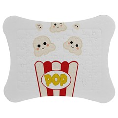 Cute Kawaii Popcorn Jigsaw Puzzle Photo Stand (bow) by Valentinaart
