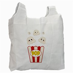 Cute Kawaii Popcorn Recycle Bag (one Side)