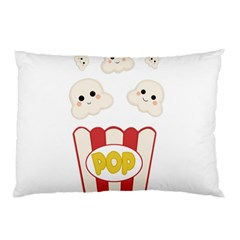Cute Kawaii Popcorn Pillow Case (two Sides) by Valentinaart