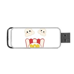 Cute Kawaii Popcorn Portable Usb Flash (two Sides) by Valentinaart