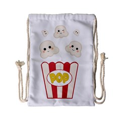 Cute Kawaii Popcorn Drawstring Bag (small) by Valentinaart