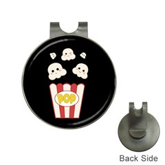 Cute Kawaii Popcorn Hat Clips With Golf Markers by Valentinaart