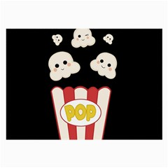 Cute Kawaii Popcorn Large Glasses Cloth by Valentinaart
