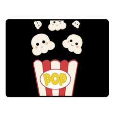 Cute Kawaii Popcorn Fleece Blanket (small) by Valentinaart