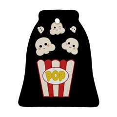 Cute Kawaii Popcorn Bell Ornament (two Sides) by Valentinaart