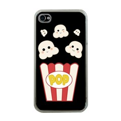 Cute Kawaii Popcorn Apple Iphone 4 Case (clear) by Valentinaart