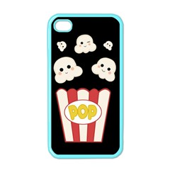 Cute Kawaii Popcorn Apple Iphone 4 Case (color) by Valentinaart