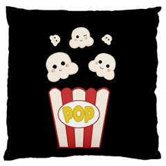 Cute Kawaii Popcorn Standard Flano Cushion Case (two Sides) by Valentinaart