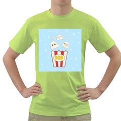 Cute Kawaii Popcorn Green T Shirt