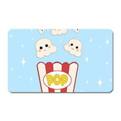 Cute Kawaii Popcorn Magnet (rectangular) by Valentinaart
