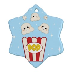 Cute Kawaii Popcorn Snowflake Ornament (two Sides) by Valentinaart