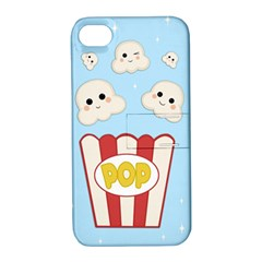 Cute Kawaii Popcorn Apple Iphone 4/4s Hardshell Case With Stand
