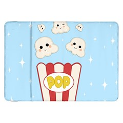 Cute Kawaii Popcorn Samsung Galaxy Tab 8 9  P7300 Flip Case by Valentinaart