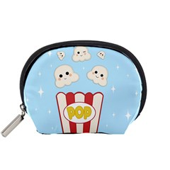 Cute Kawaii Popcorn Accessory Pouches (small)  by Valentinaart
