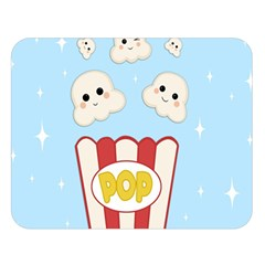 Cute Kawaii Popcorn Double Sided Flano Blanket (large)  by Valentinaart