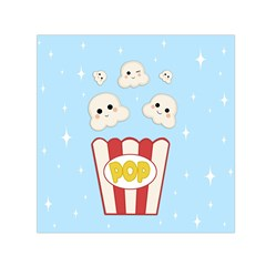 Cute Kawaii Popcorn Small Satin Scarf (square) by Valentinaart