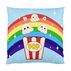 Cute Kawaii Popcorn Standard Cushion Case (two Sides) by Valentinaart