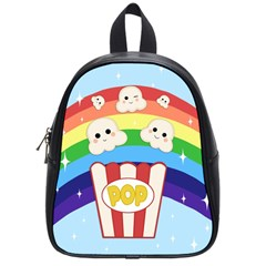 Cute Kawaii Popcorn School Bag (small) by Valentinaart