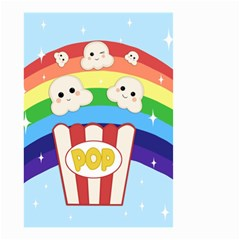 Cute Kawaii Popcorn Small Garden Flag (two Sides) by Valentinaart