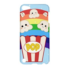 Cute Kawaii Popcorn Apple Ipod Touch 5 Hardshell Case by Valentinaart