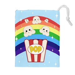 Cute Kawaii Popcorn Drawstring Pouches (extra Large)