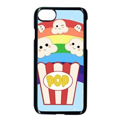Cute Kawaii Popcorn Apple Iphone 7 Seamless Case (black) by Valentinaart