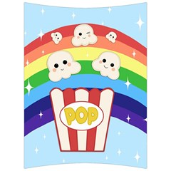 Cute Kawaii Popcorn Back Support Cushion by Valentinaart