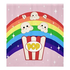 Cute Kawaii Popcorn Shower Curtain 66  X 72  (large)  by Valentinaart