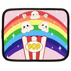 Cute Kawaii Popcorn Netbook Case (xl)  by Valentinaart
