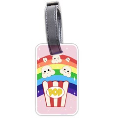 Cute Kawaii Popcorn Luggage Tags (two Sides) by Valentinaart