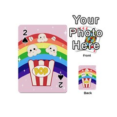 Cute Kawaii Popcorn Playing Cards 54 (mini)  by Valentinaart