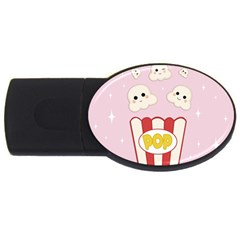 Cute Kawaii Popcorn Usb Flash Drive Oval (4 Gb) by Valentinaart