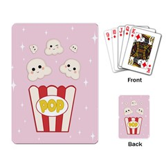 Cute Kawaii Popcorn Playing Card by Valentinaart