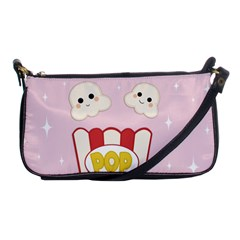 Cute Kawaii Popcorn Shoulder Clutch Bags by Valentinaart