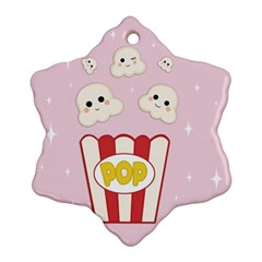 Cute Kawaii Popcorn Ornament (snowflake) by Valentinaart