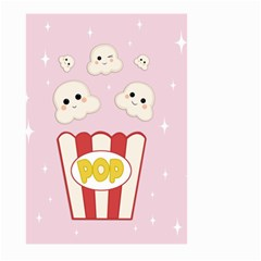 Cute Kawaii Popcorn Large Garden Flag (two Sides) by Valentinaart